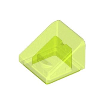 LEGO 6076751 TUILE 1X1X2/3 - JAUNE FLUO TRANSPARENT