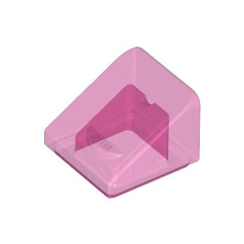 LEGO 6172367 TUILE 1X1X2/3 - ROSE TRANSPARENT