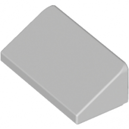 LEGO 4568637 TUILE 1 X 2 X 2/3 - MEDIUM STONE GREY