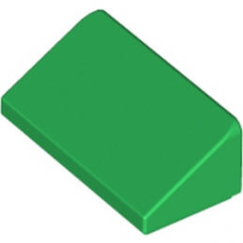 LEGO 6000071 TUILE 1 X 2 X 2/3 - DARK GREEN