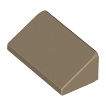 LEGO 6015449 TUILE 1 X 2 X 2/3 - SAND YELLOW