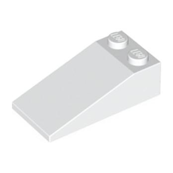LEGO 4143000 TUILE 2X4X1, 18° - BLANC