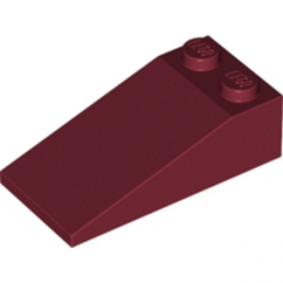 LEGO 6030360 TUILE 2X4X1, 18° - NEW DARK RED