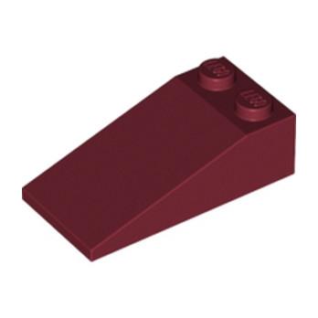 LEGO 6030360 TUILE 2X4X1, 18° - NEW DARK RED