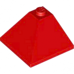 LEGO 367521 CORNER OUTSIDE 3X3/25° - ROUGE
