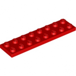 LEGO 303421 PLATE 2X8 - ROUGE