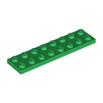 LEGO 303428 PLATE 2X8 - DARK GREEN
