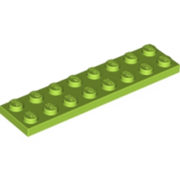 LEGO 4172876 PLATE 2X8 - BRIGHT YELLOWISH GREEN