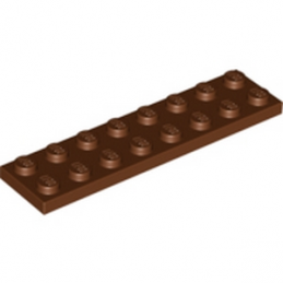 LEGO 4211211 PLATE 2X8 - REDDISH BROWN lego-4211211-plate-2x8-reddish-brown ici :