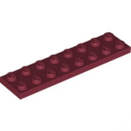 LEGO 4163456 PLATE 2X8 - NEW DARK RED