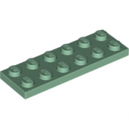 LEGO 6194726 PLATE 2X6 - SAND GREEN