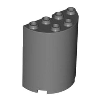 LEGO 4533334 CLOISON ARRONDI 2X4X4 - DARK STONE GREY
