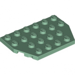 LEGO 6018479 PLATE 4X6 26° - SAND GREEN