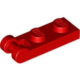 LEGO 4515365 PLATE 1X2 W/SHAFT Ø3.2 - ROUGE