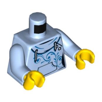 LEGO 6176217  TORSE FEMME- LIGHT ROYAL BLUE