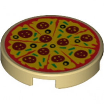 LEGO 6174830 ROND 2X2 - PIZZA IMPRIME