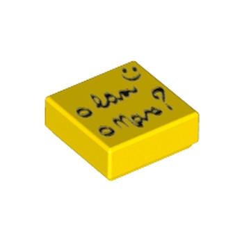 LEGO 6139426 1x1 - JAUNE