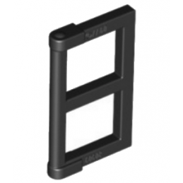 LEGO 6079747 WINDOW ½ FOR FRAME 1X4X3 - NOIR