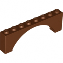 LEGO 6174242 ARCHE 1X8X2 - REDDISH BROWN lego-6313665-arche-1x8x2-reddish-brown ici :