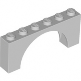 LEGO 6106189 BRICK W. BOW 1X6X2 - MEDIUM STONE GREY