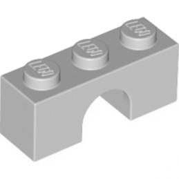 LEGO 4211497 BRICK W. BOW 1X3 - MEDIUM STONE GREY