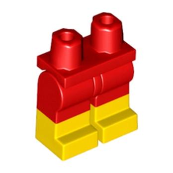 LEGO 6192091 JAMBE BICOLORE - ROUGE/JAUNE