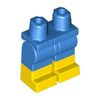 LEGO 6192140 JAMBE BICOLORE - BLEU/JAUNE