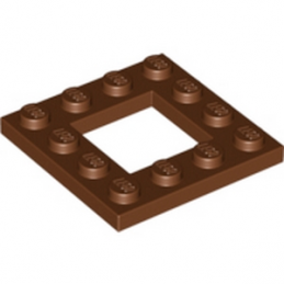 LEGO 6070442 PLATE 4X4 - REDDISH BROWN