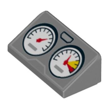 LEGO  6134910 TUILE1x2 COMPTEUR - DARK STONE GREY