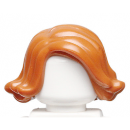 LEGO 6115306 CHEVEUX FEME - DARK ORANGE