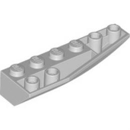 LEGO 424260935 	RIGHT SHELL 2X6W/BOW/ANGLE,INV - MEDIUM STONE GREY