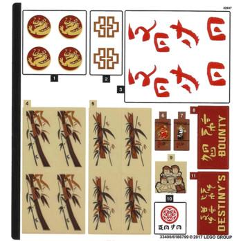 Stickers / Autocollant Lego Ninjago - 70618