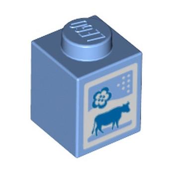 LEGO 4619596 BRIQUE DE LAIT - MEDIUM BLUE