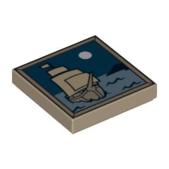 LEGO 4633881 TABLEAU / DECORATION 2X2 - SAND YELLOW
