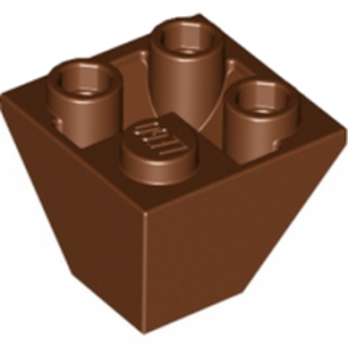 LEGO 6037454 TUILE CORN. INVERT.2X2/45° - REDDH BROWN