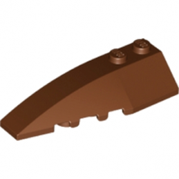 LEGO 6191639 LEFT SHELL 2X6 W/BOW/ANGLE - REDDISH BROWN
