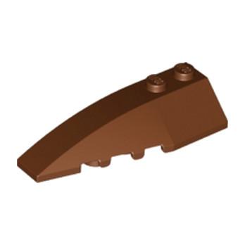 LEGO 6191639 LEFT SHELL 2X6 W/BOW/ANGLE - REDDISH BROWN lego-6191639-left-shell-2x6-wbowangle-reddish-brown ici :