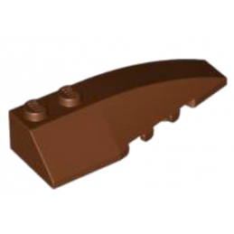LEGO 6191635 RIGHT SHELL 2X6 W/BOW/ANGLE - REDDISH BROWN