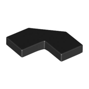 LEGO 6166859 PLATE LISSE 2X2, 2X2, DEG. 90, W/ DEG. 45 - NOIR