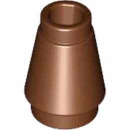 LEGO 4529242 CONE 1X1 - REDDISH BROWN