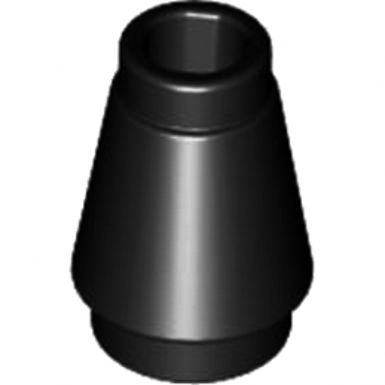 LEGO 4518219 CONE 1X1 - NOIR