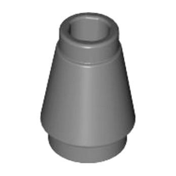 LEGO 4518486 CONE 1X1 - DARK STONE GREY