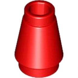 LEGO 4518567 CONE 1X1 - ROUGE