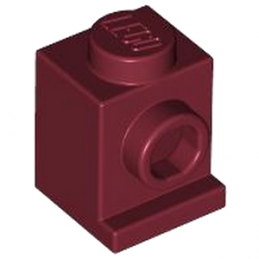 LEGO 4183878  ANGULAR BRIQUE 1X1 - NEW DARK RED