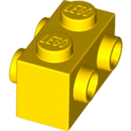 LEGO 4557157 BRIQUE 1X2 W. FOUR KNOBS - JAUNE