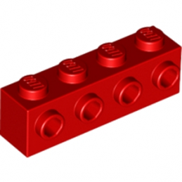 LEGO 4157223 BRIQUE 1X4 W. 4 KNOBS - ROUGE