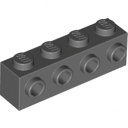 LEGO 4210725 BRIQUE 1X4 W. 4 KNOBS - DARK STONE GREY
