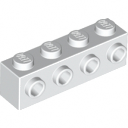 LEGO 4143254 BRIQUE 1X4 W. 4 KNOBS - BLANC