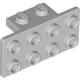 LEGO 4613165 ANGLE PLATE 1X2 2X4 - MEDIUM STONE GREY