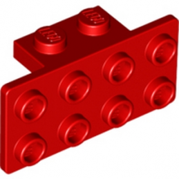 LEGO 4616800 ANGLE PLATE 1X2 / 2X4 - ROUGE